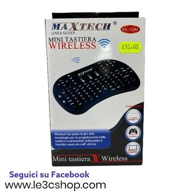 Mini tastiera wifi ek-100m maxtech