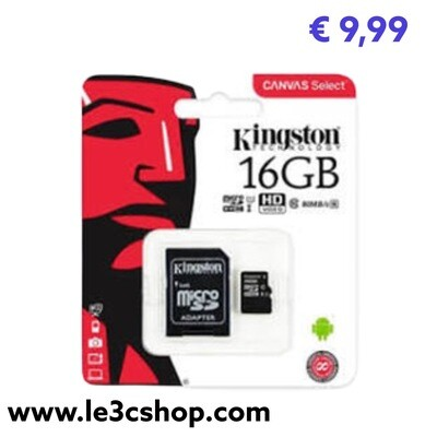 Sd Kingstone 16 Gb Classe 10