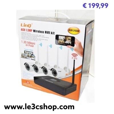 Kit 4 Telecamere Linq Wifi nvr-3104w