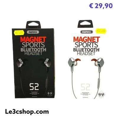 Auricolari Bluetooth Remax S2 Magnetic