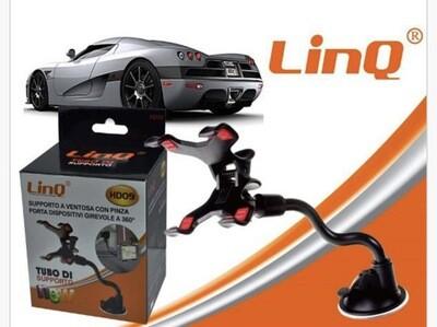 Supporto Auto Con Pinza E Ventosa Linq