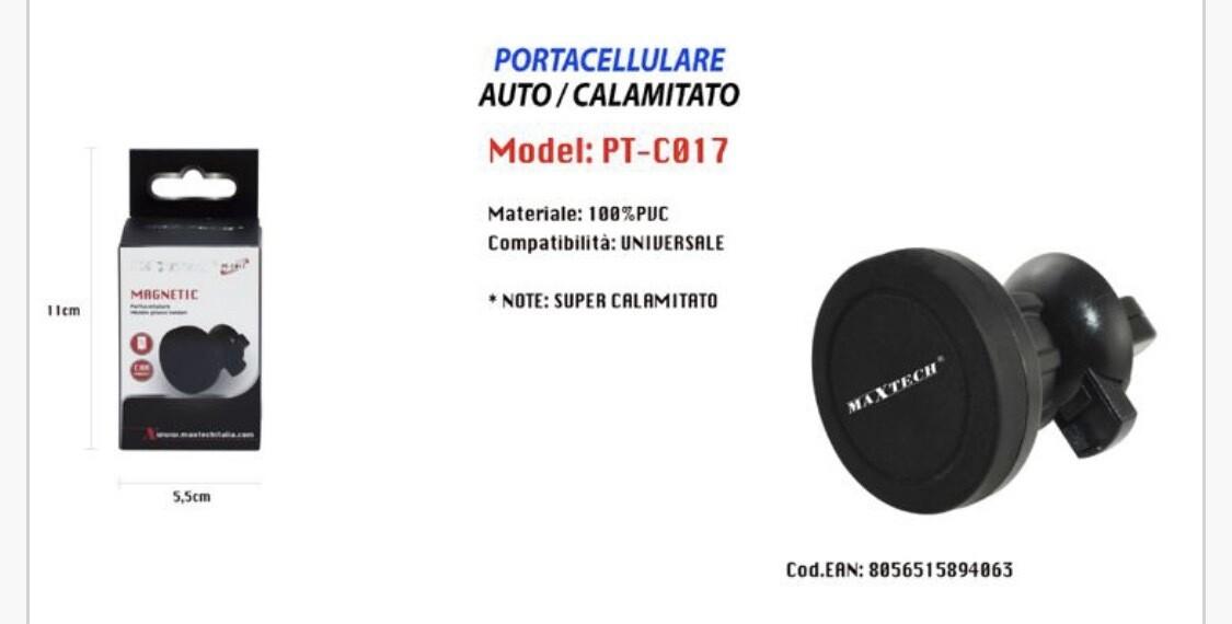 Supporto Magnetico Per Auto Presa D'aria Maxtech