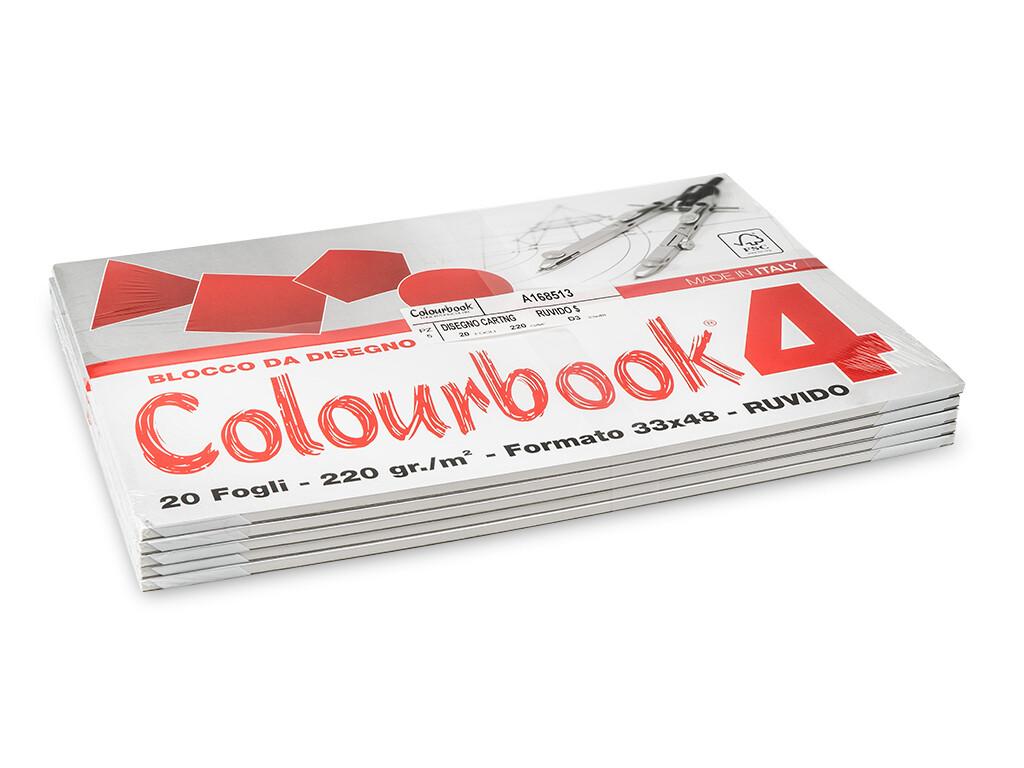 colourbook Blocco da disegno 4 33x48 - Ruvido