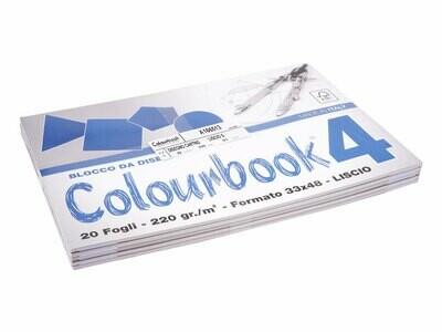 Colourbook Blocco da disegno F4 33x48