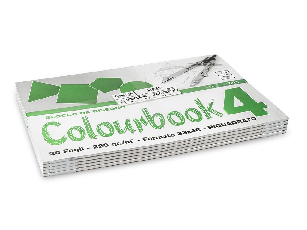 Colourbook Blocco da disegno 4 33x48 - Riquadrato