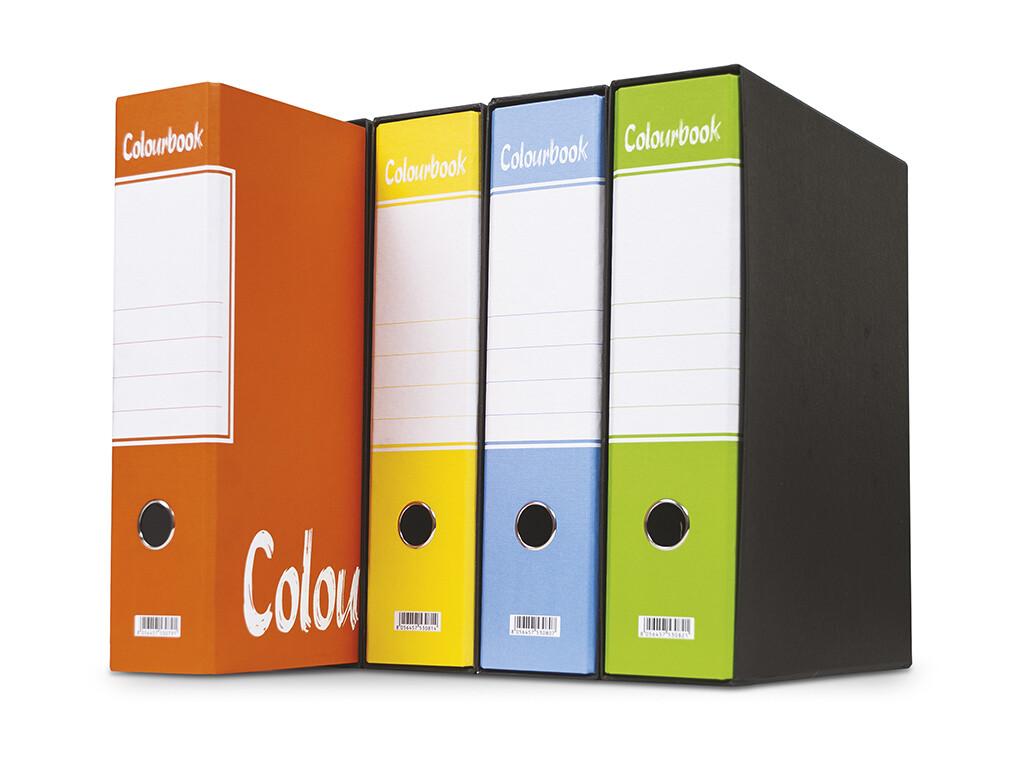 Colourbook Registratori D8 con custodia Assortiti Fluo