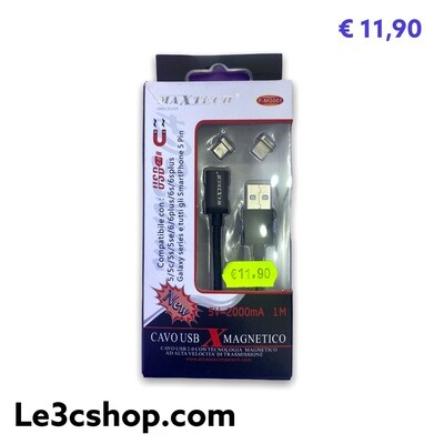 Cavo Magnetico Lightning E Micro Usb Maxtech