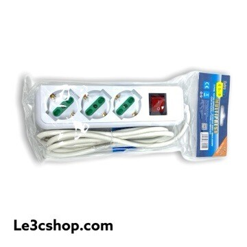 Ciabatta Elettrica 3 Posti Con Interruttore Extrastar