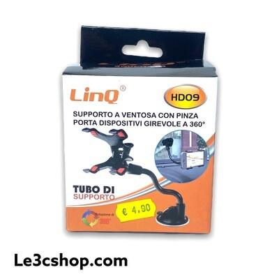 Supporto A Ventosa Con Pinza Porta Smartphone Girevole A 360