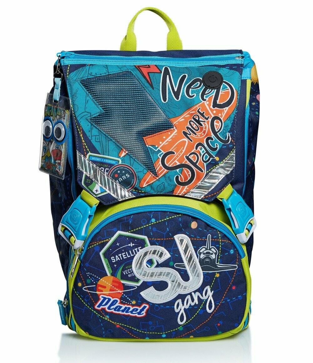 ZAINO ESTENSIBILE BIG - LEDTECH BOY seven sj schoolpack