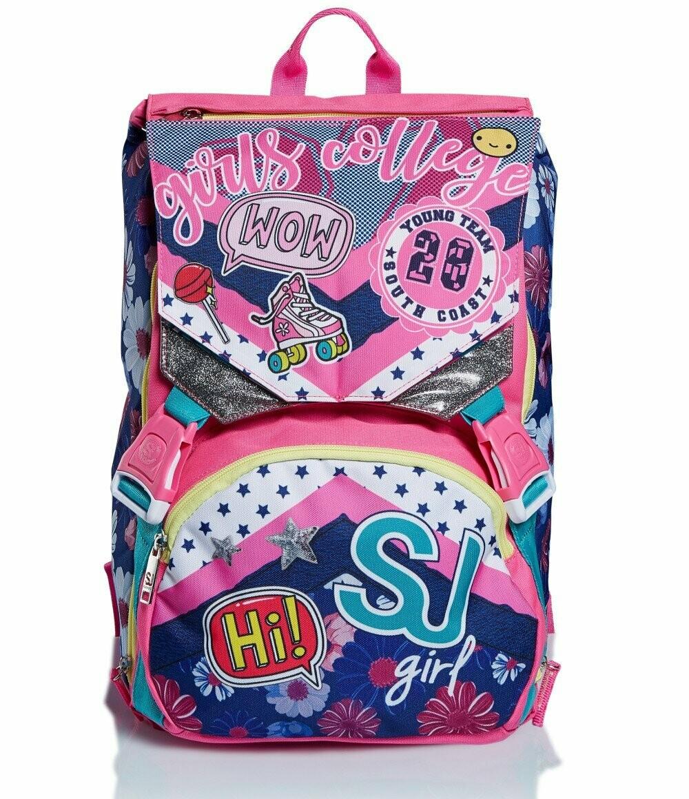 ZAINO ESTENSIBILE BIG - PINKY COLLEGE seven sj schoolpack