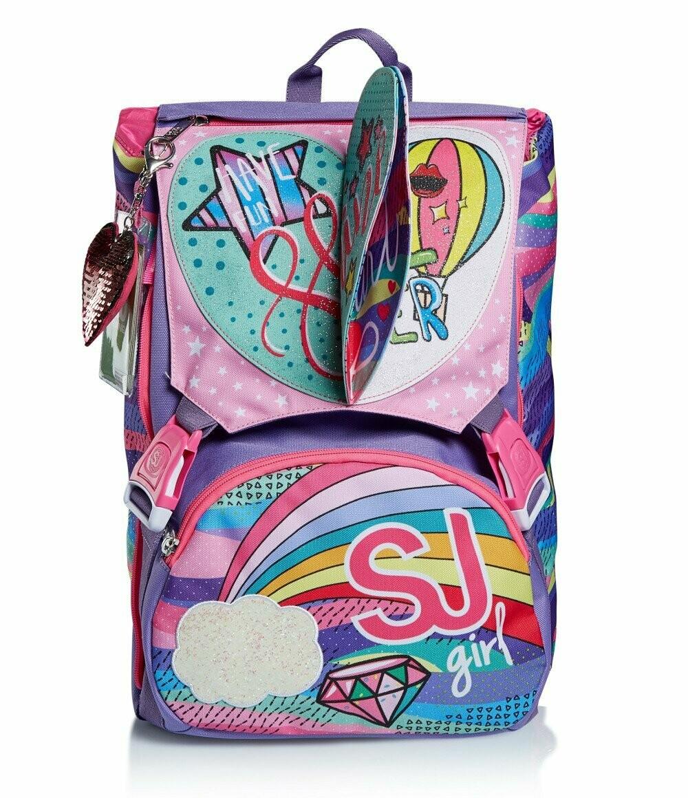 ZAINO ESTENSIBILE BIG - PASTEL RAINBOW schoolpack seven sj