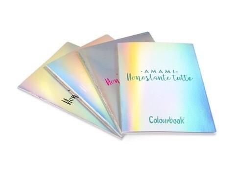 Quaderni Colourbook 5mm E 1 Rigo Iridescenti