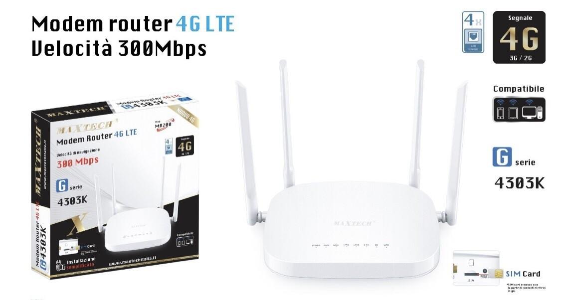 Router 4g con Eternet Maxtech G serie 4303K