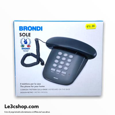 Telefono fisso Brondi sole nero