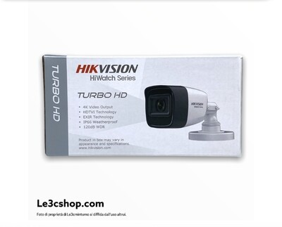 Telecamera hd-cvi hikvision 8 mp 2,8 mm