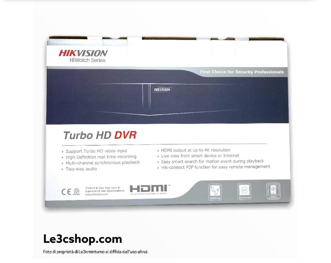Dvr hikvision hd-cvi 8 canali +4ip 4 mp