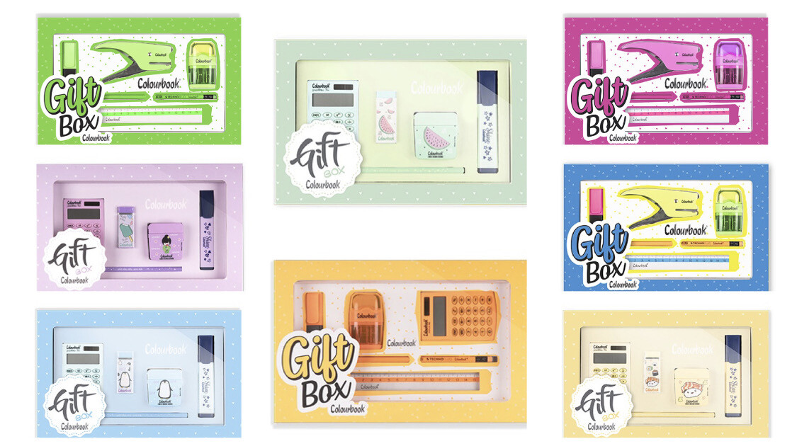 Gift box Colourbook pastel e fluo