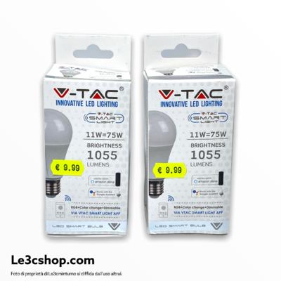 Lampadina V-tac smart 11w multicolore e bianco
