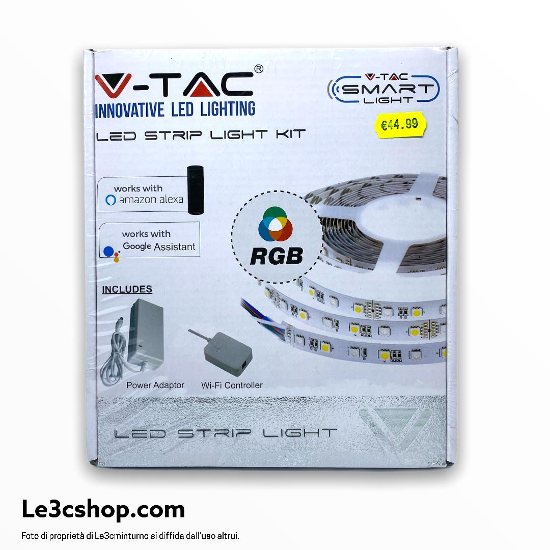 Striscia LED Smart Home RGB 5m 1000l 10 WATT Alexa Google Home V-TAC