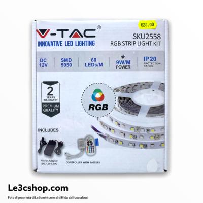 StripLed colorata 5 m 5050 smd 12v 60 led/m 9w ip 20