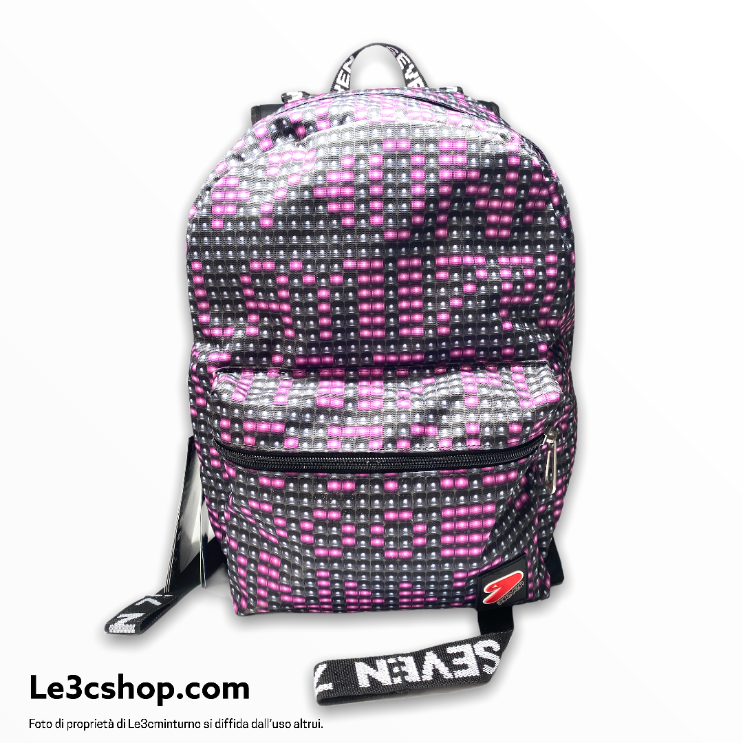 Zaino reversibile backpack Seven ledwall rosa