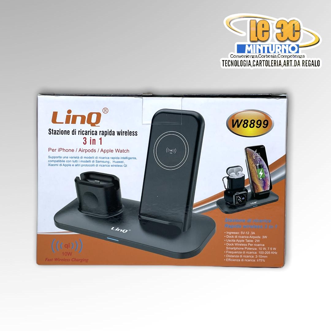 Stazione di ricarica rapida wireless Linq 3 in 1