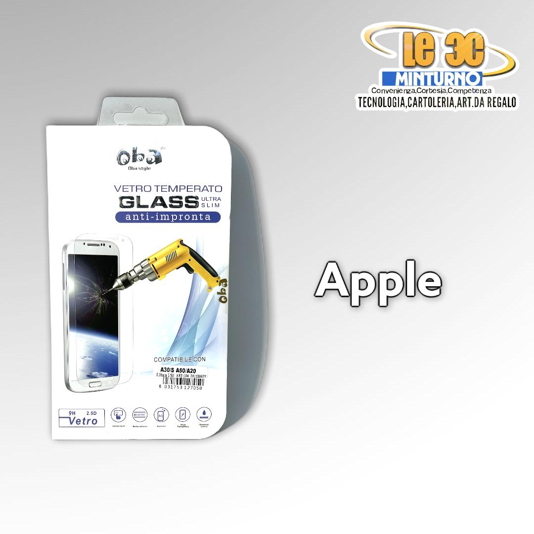 Vetro temperato anti impronta ultra slim Apple 3 pz