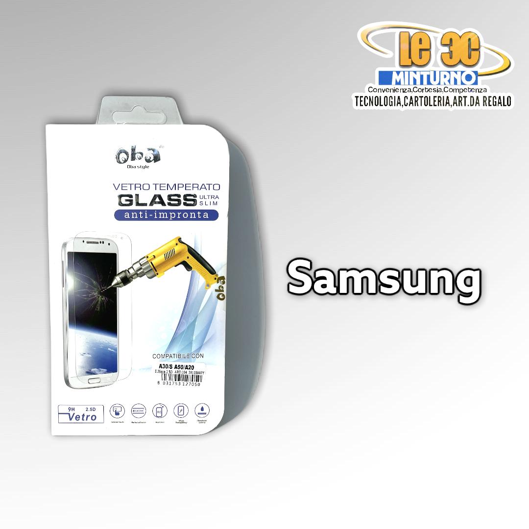 Vetro temperato anti impronta ultra slim Samsung serie A 2019-2020-2021 3 PZ