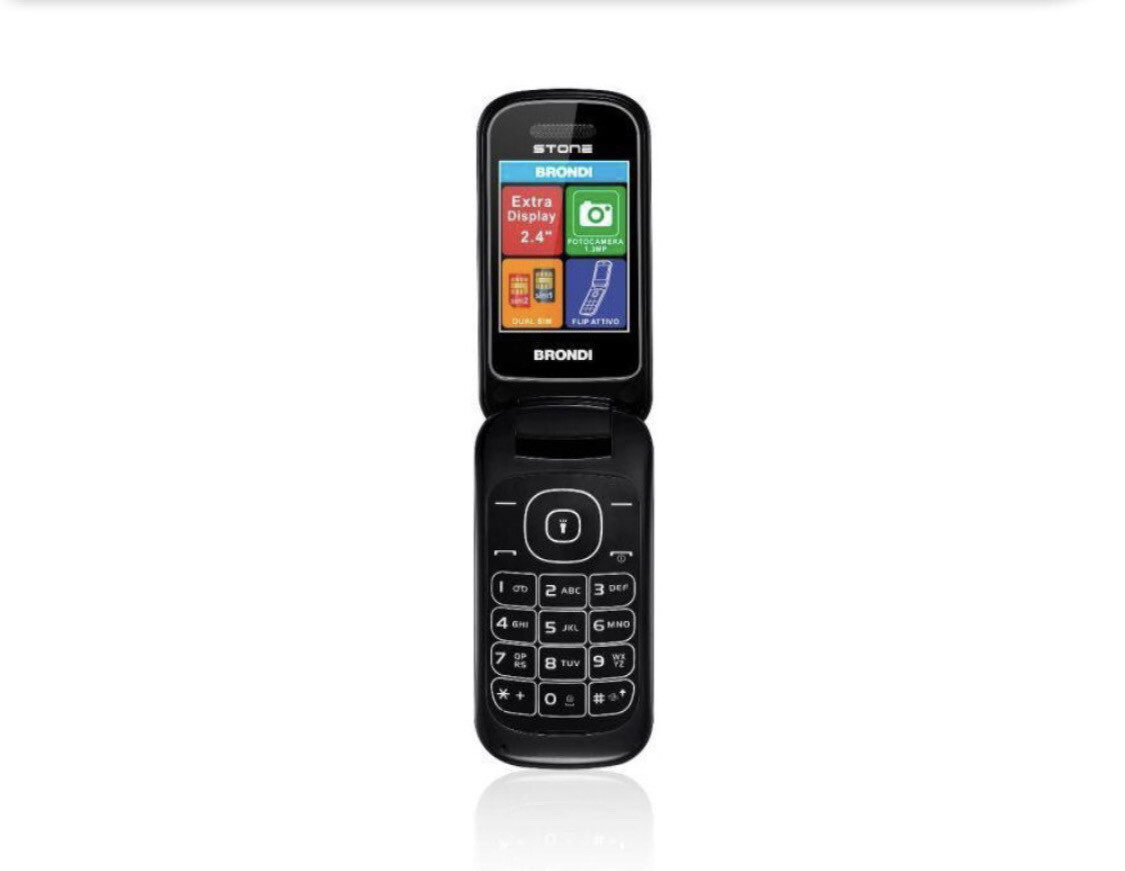 Telefono Brondi Amico stone nero