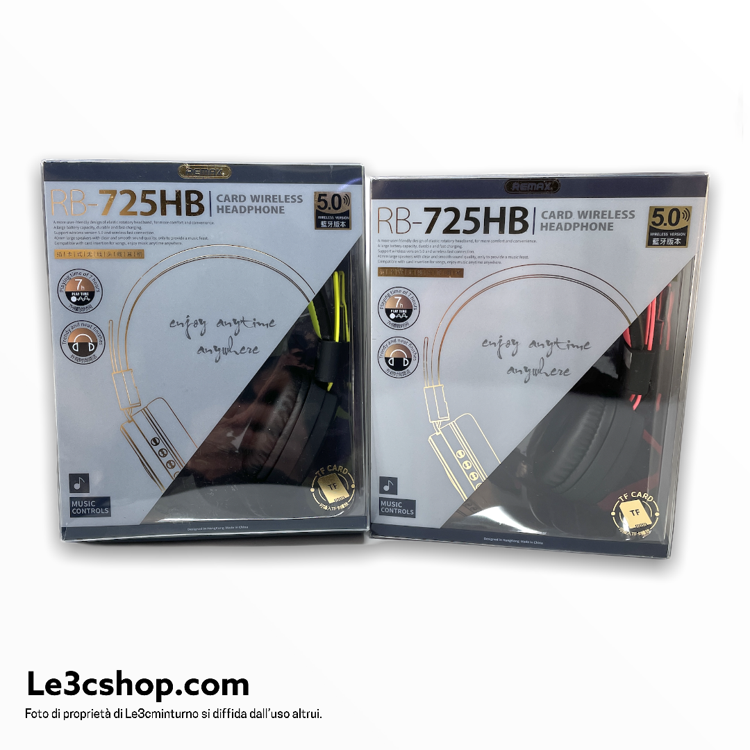 Cuffia Remax RB-725HB Bluetooth e TF card