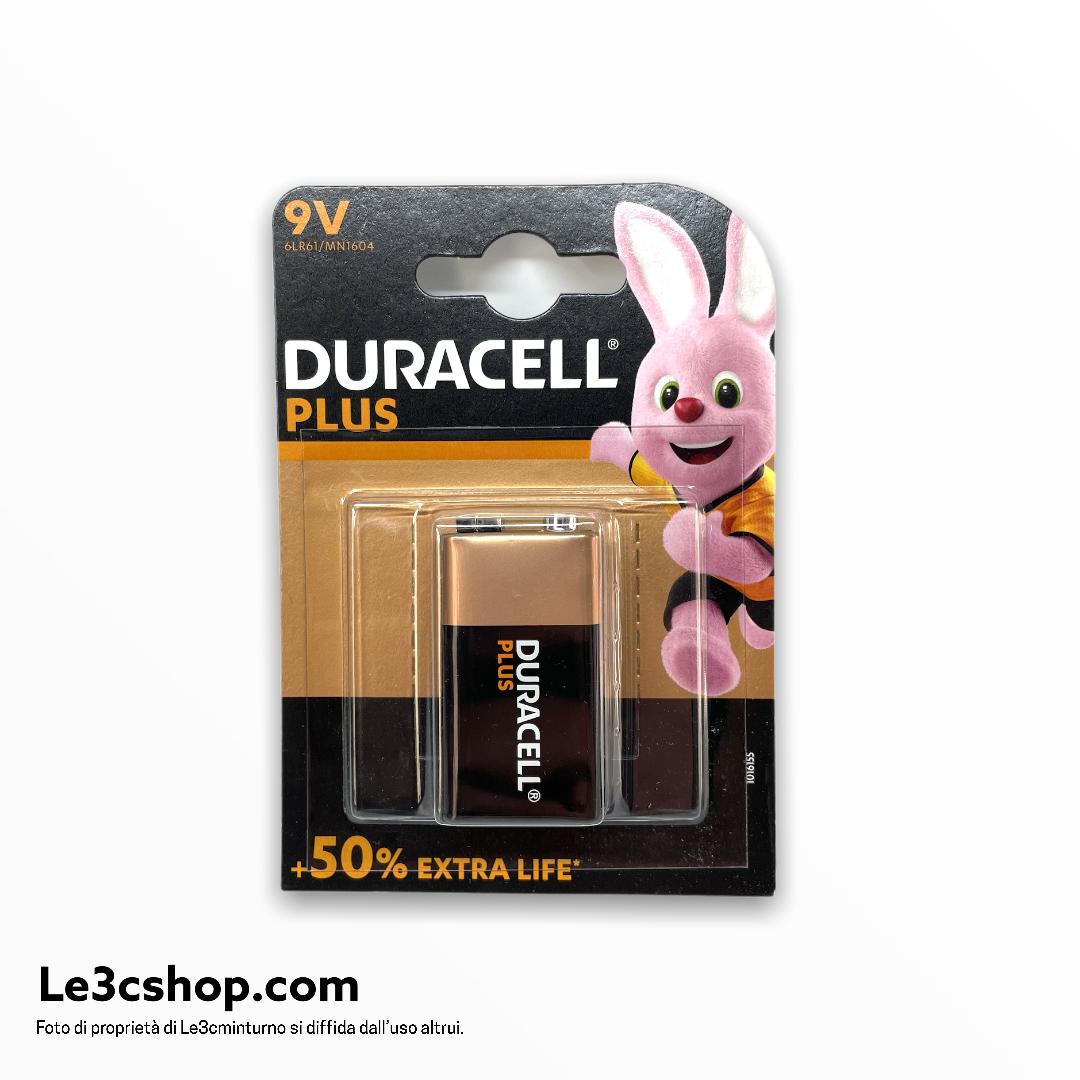 Batteria duracell plus power 9v