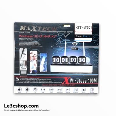 kit videosorveglianza wifi e ethernet maxtech 4 camere.
