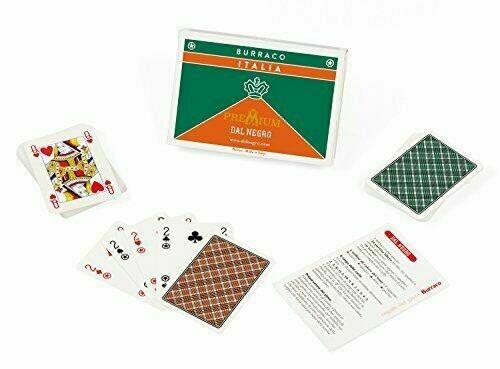 Carte Dal Negro Burraco Italia, Carte da Gioco italiano cartoncino duplex premium