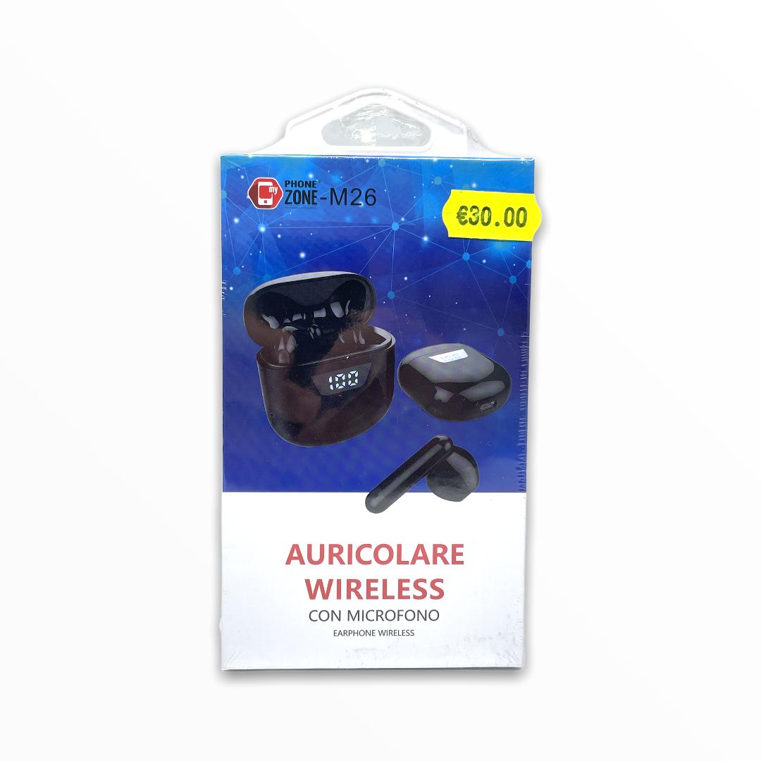 Auricolari Bluetooth m26 phone zone bianchi