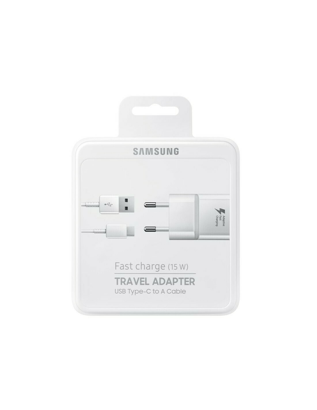 Caricatore Fast charge 15w samsung travel adapter usb type-c to A cable