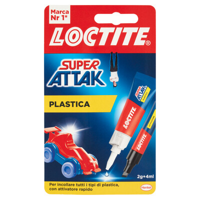 Loctite Super Attak Plastica 2 g + 4 ml