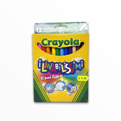 Pennarelli Crayola Punta Fine 12 pz