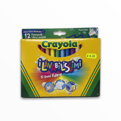Pennarelli Crayola I Lavabilissimi Punta Maxi 12pz