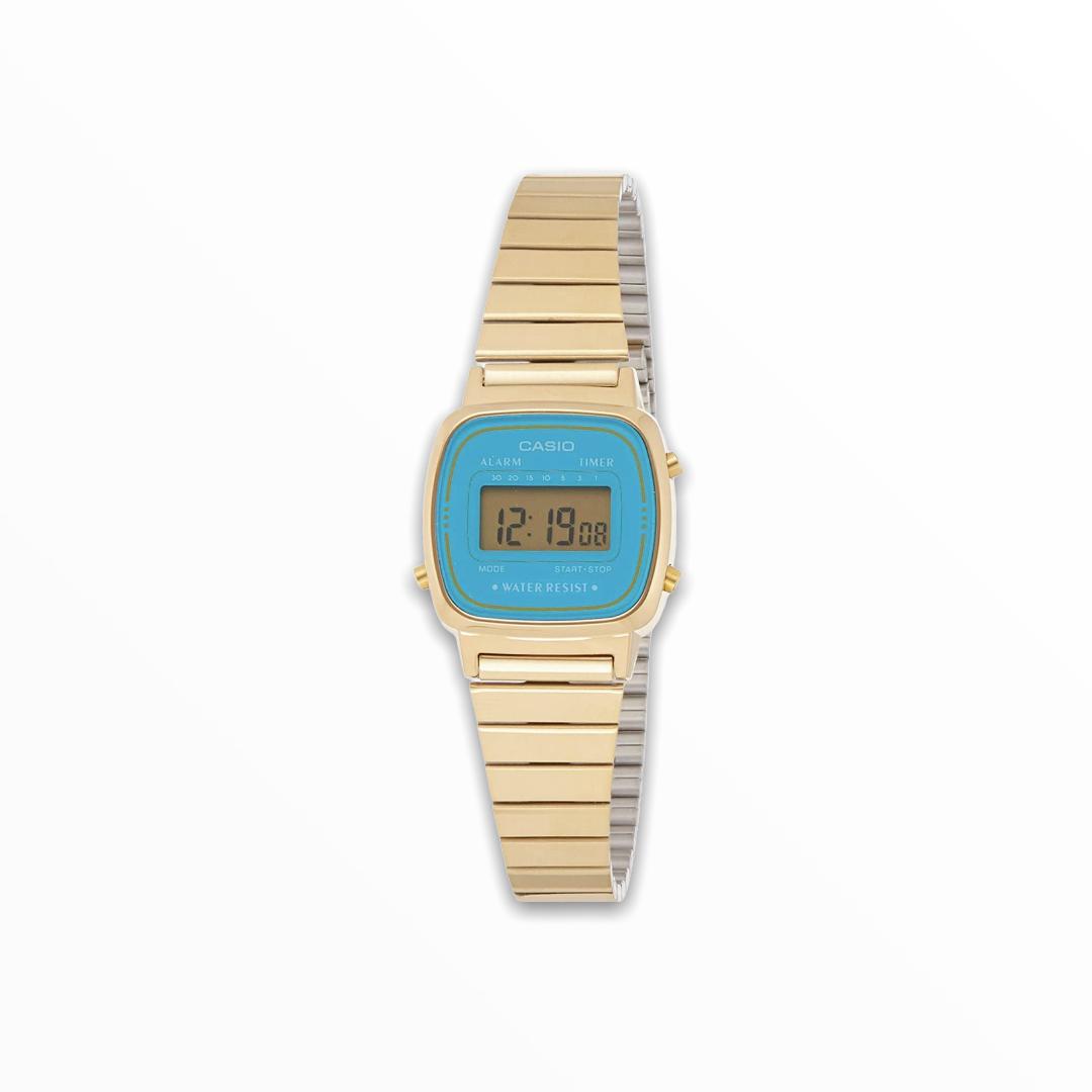 Orologio casio donna oro quadrante celeste LA670WGA-2DF
