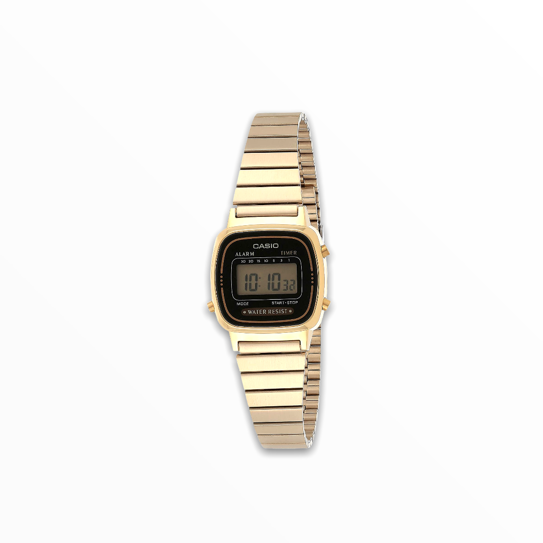 Orologio casio donna quadrante nero metallo LA670WGA-1DF
