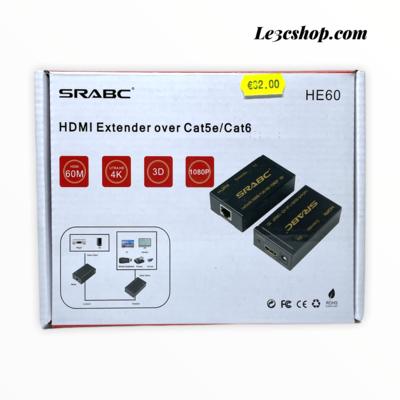 Extender hdmi over cat5e/cat6 srabc