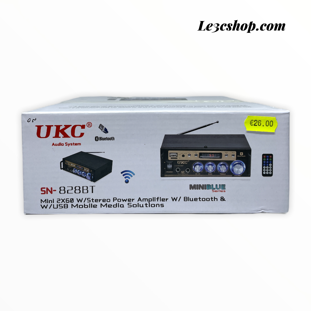 Amplificatore Bluetooth ukc sn-828bt