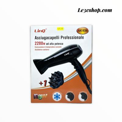 Asciugacapelli Linq Ak-836 2200w con diffusore.