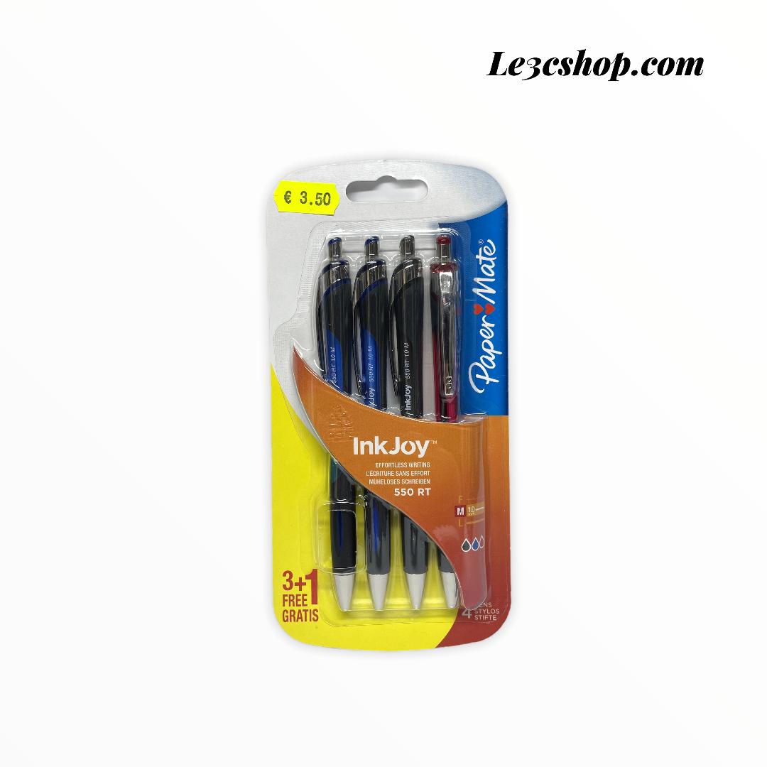 Papermate Inkjoy 550 rt penne a sfera con punta retrattile, assortimento - set di 4