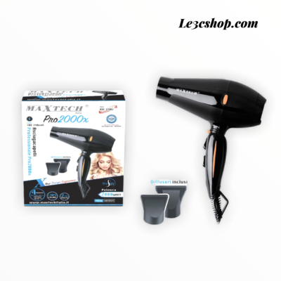 Asciugacapelli maxtech 2000w professionale