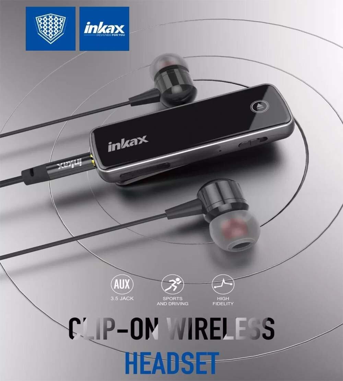 clip-on wireless headset inkax