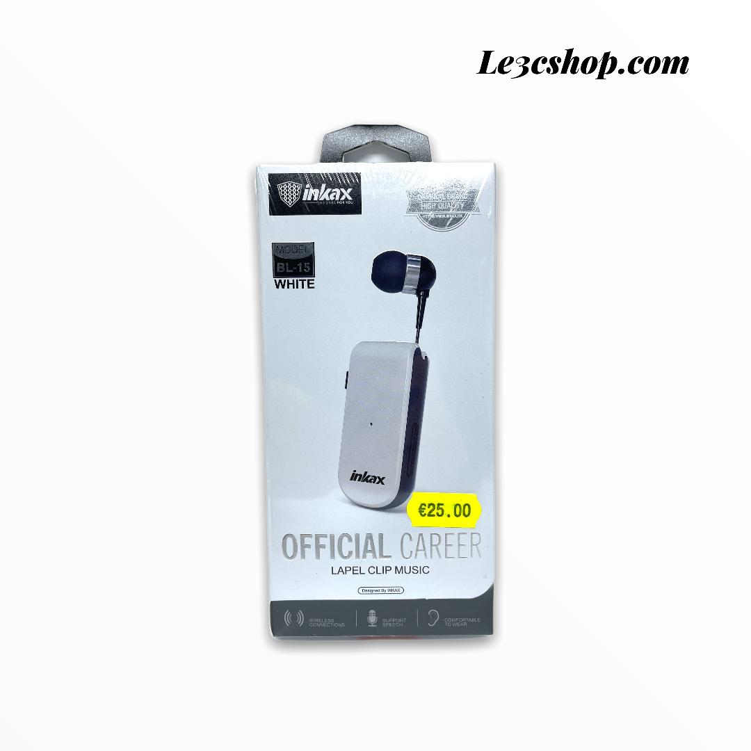 Auricolare Inkax bl-15 clip