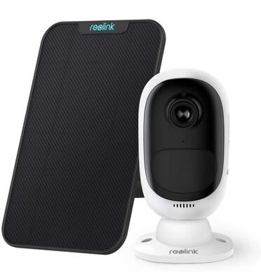 Reolink 1080P Telecamera di Sicurezza WiFi Esterna con pannello solare.