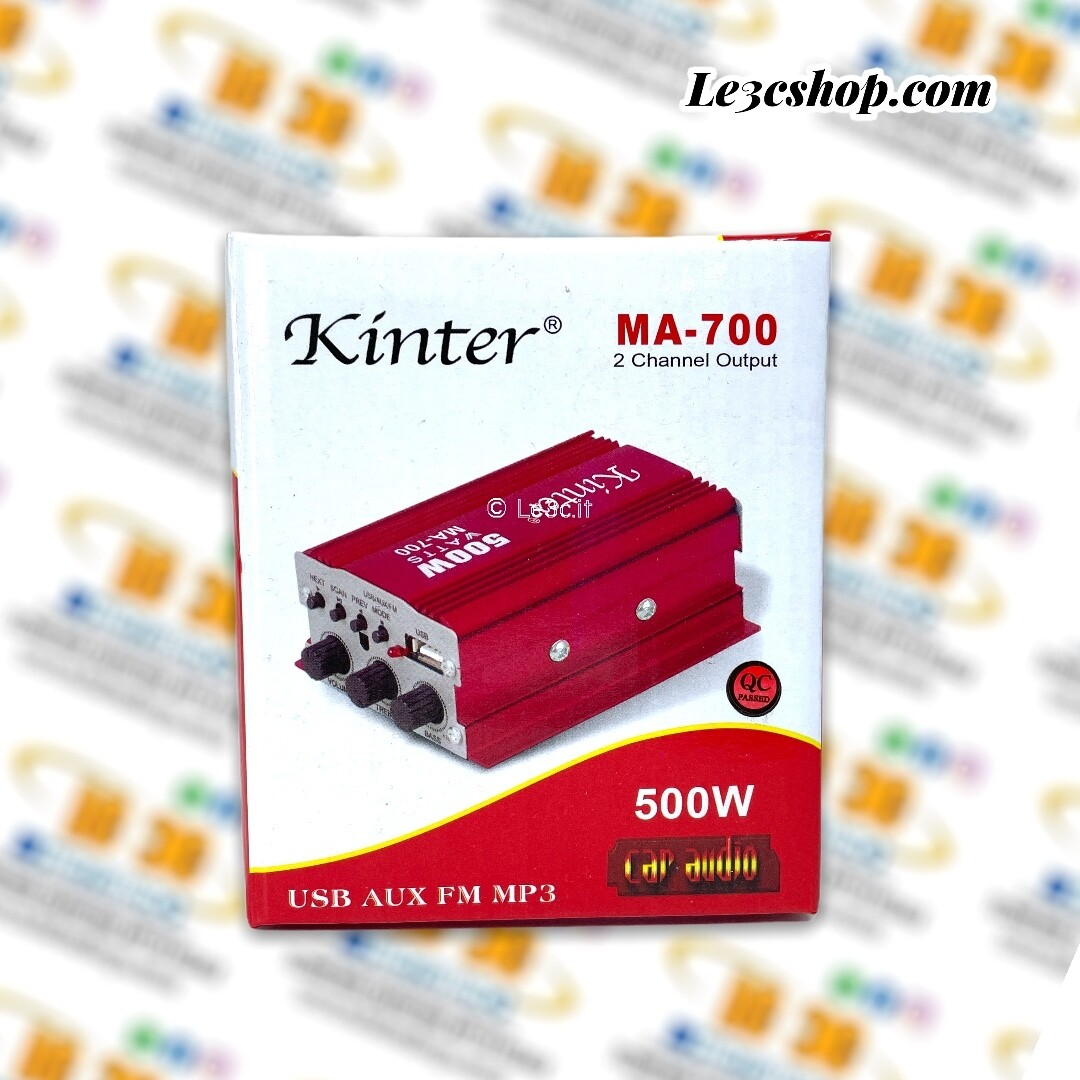 Amplificatore kinter MA-700 2 channel output 500w car audio